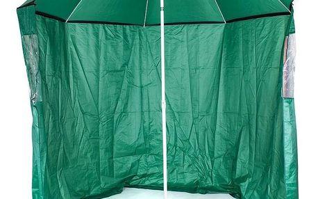 Happy Green Slunečník s boční stěnou, průměr 230 cm