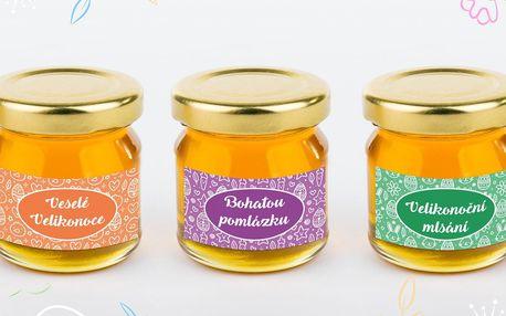 Velikonoční balíček tří lipových medů z ČR