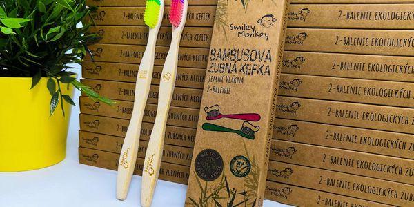 Bambusové zubní kartáčky – 2 ks v balení3
