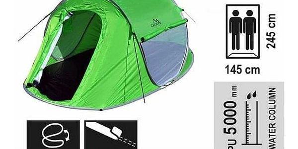 Cattara Stan pro 2 osoby Bovec zelená, 245 x 145 x 95 cm3
