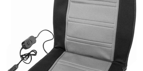 Compass Potah sedadla vyhřívaný s termostatem 12V LADDER šedý4