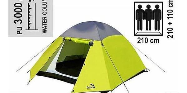Cattara Dvouplášťový stan pro 3 osoby Trent, žlutá2
