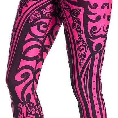 Fitness legíny FeelJ! Etno Pink Velikost: M