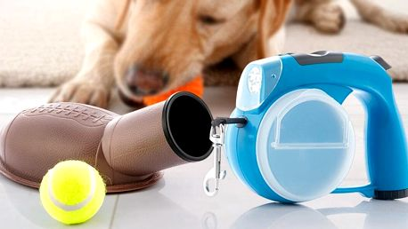 Multifunkční vodítko 6 v 1 i vrhač míčků pro psy