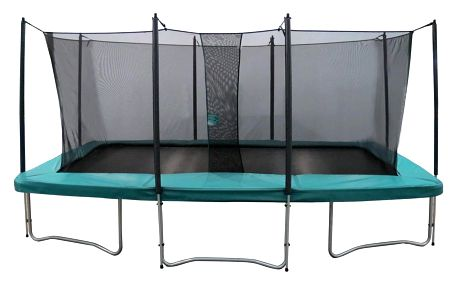 SET trampolína MASTERJUMP Super 510 x 368 cm + ochranná síť + schůdky