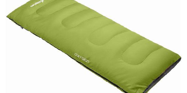 Spací pytel KING CAMP Oxygen - zelený - levý zip