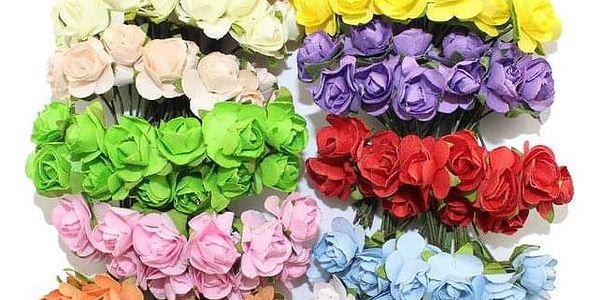 Velká sada 144 ks dekorativních umělých růží - Jasně modrá - dodání do 2 dnů