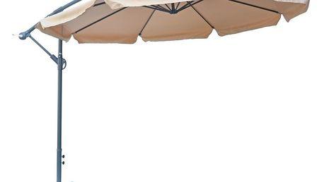 Slunečník EXCLUSIVE NEPROMOKAVÝ boční - béžový
