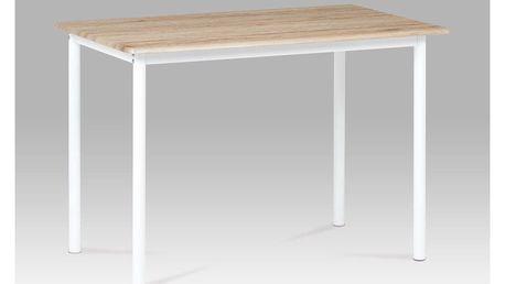 Jídelní stůl 110x70, dub San Remo / bílý lak