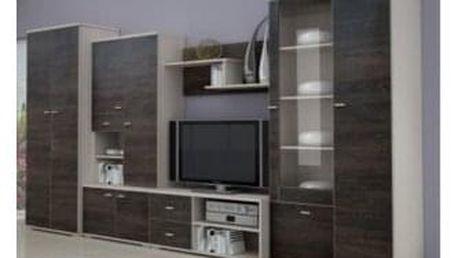 Obývací stěna ARS, jasan/dub americký