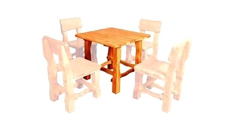 Zahradní stůl MO213 bezbarvý lak