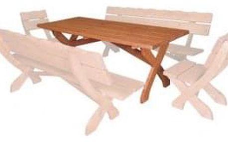 Zahradní stůl MO104 ořech + lak