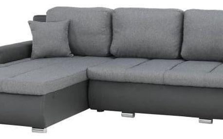 Rohová sedací souprava, šedá, TRAMP