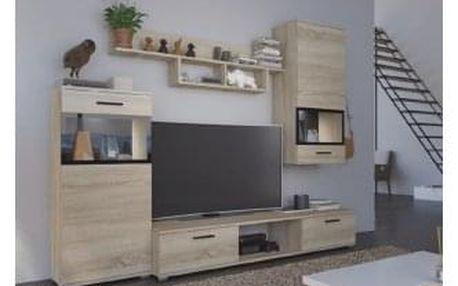Obývací stěna, dub sonoma, BREAK