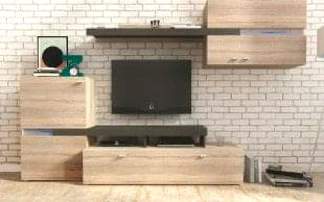 Obývací stěna LINOSA sonoma/grafit