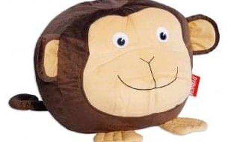 Sedací vak opice Žofka, hnědá/béžová