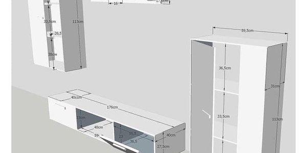 Obývací stěna SALESA, dub sonoma3