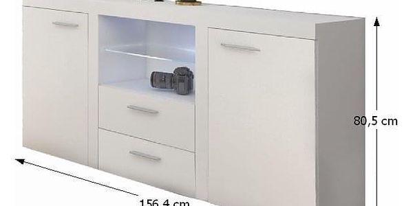 Obývací stěna, bílá, ROCHESTER3