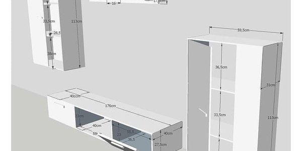 Obývací stěna SALESA, bílá3
