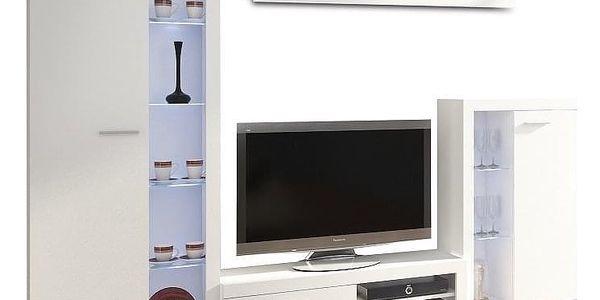 Obývací stěna, bílá, ROCHESTER5