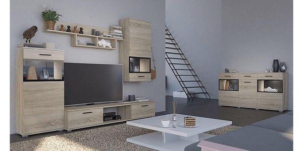 Obývací stěna, dub sonoma, BREAK5