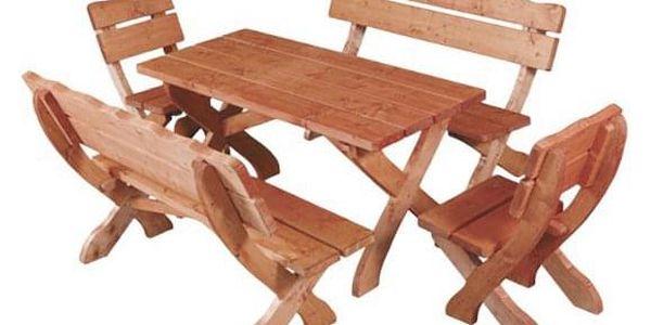 Zahradní stůl MO105 ořech2