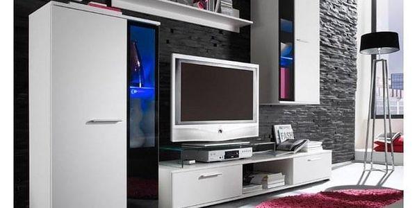 Obývací stěna SALESA, bílá4