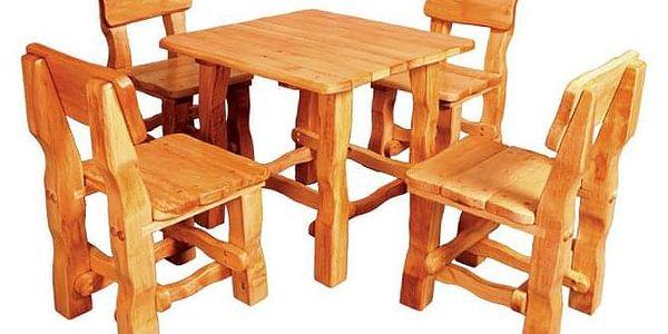 Zahradní stůl MO213 bezbarvý lak2
