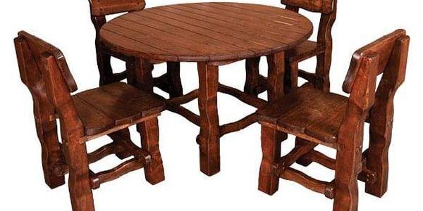 Zahradní stůl MO210 brunat2