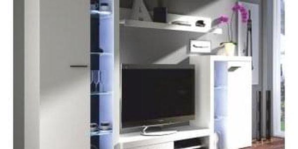 Obývací stěna, bílá, ROCHESTER
