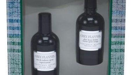 Geoffrey Beene Grey Flannel dárková kazeta pro muže toaletní voda 120 ml + voda po holení 120 ml