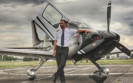 Pilotem luxusního letadla na zkoušku