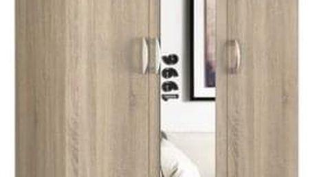 Šatní skříň Romana se zrcadlem 120 cm sonoma