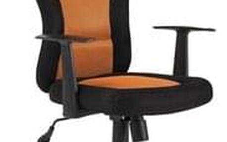 Kancelářské křeslo Q-039 černá/oranžová