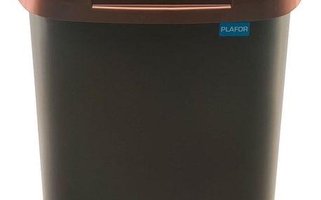 Aldotrade Odpadkový koš FALA 15 l, černá/zlatá