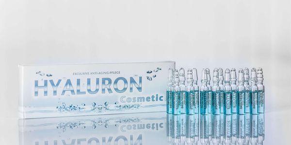 Balení ampulí (15x2 ml) obsahující kyselinu hyaluronovou3