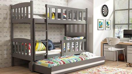 Patrová postel s přistýlkou Kuba grafit 5014