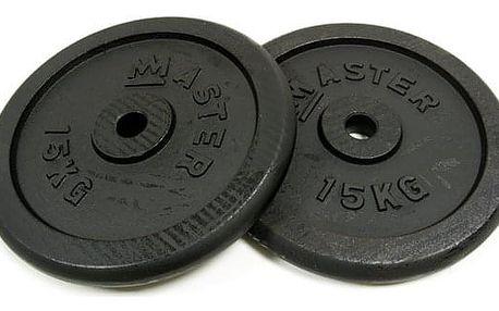 MASTER ocelové závaží 2x15kg - 30mm