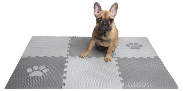 Podložka pro psy – puzzle s bílou tlapkou (4 díly)3