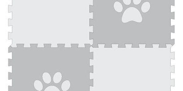 Podložka pro psy – puzzle s bílou tlapkou (4 díly)4