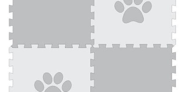 Podložka pro psy – puzzle s bílou tlapkou (4 díly)5