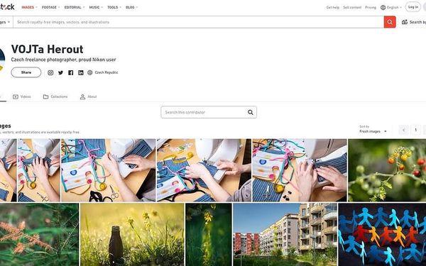 Jak na fotobanku Shutterstock s Vojtou Heroutem, U vás doma, 1 osoba, 90 minut4