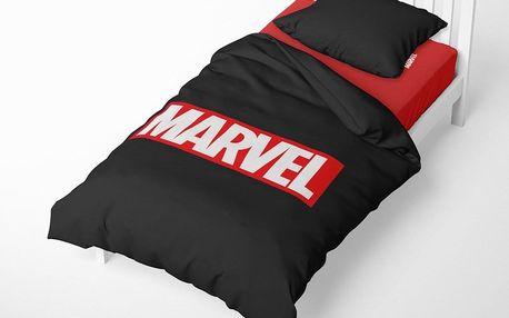 Herding Herding povlečení Logo Marvel 140x200/70x90 cm černé
