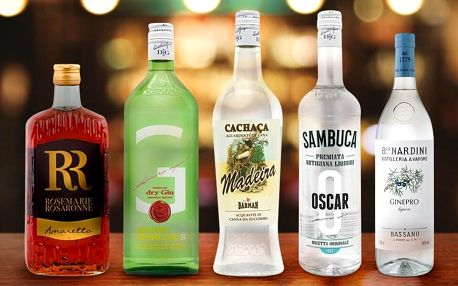 Likéry, giny i pálenky z Itálie a Brazílie
