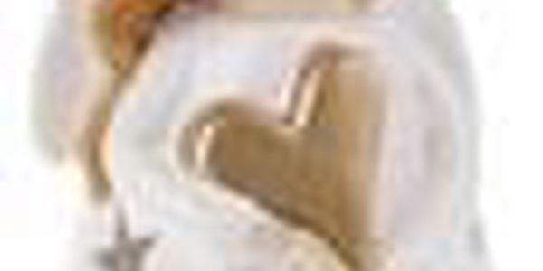 Anděl, keramická dekorace na čajovou svíčku, barva bílá KEK9146