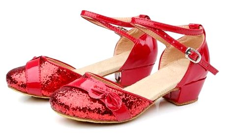 Boty s pásky pro malé parádnice - Červená_velikost č 33 - dodání do 2 dnů