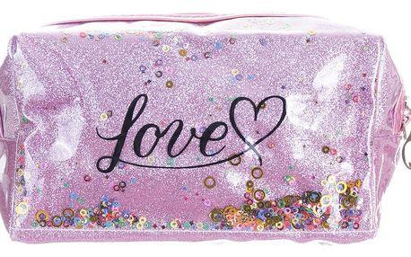 Fashion Icon Kosmetická taštička Love s flitry