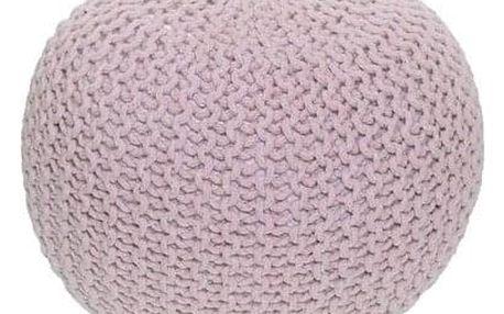 Tempo Kondela Pletený taburet Gobi 1, růžová