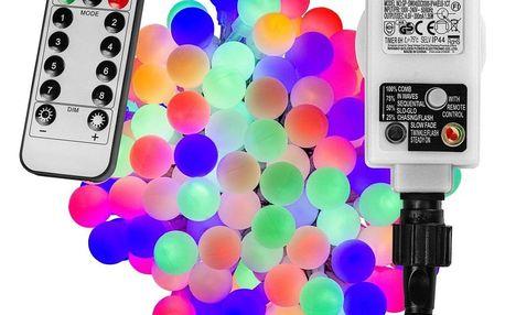 VOLTRONIC® Párty LED osvětlení 10 m - barevné 100 diod + ovladač