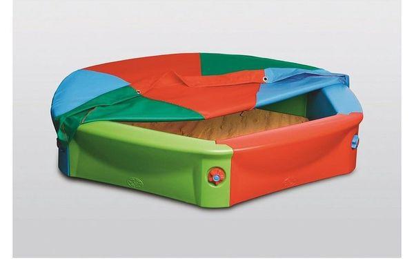 Dětské plastové pískoviště s plachtou, pr. 120 cm3